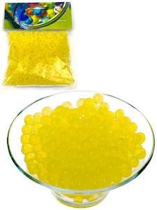 Светящиеся гидрогелевые шарики S, желтые
