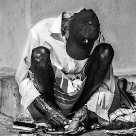 Money by Upul.C. Dayawansa - People Street & Candids ( black and white, street, city life, candid, workers,  )