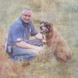 Man's best friend by Julia Harwood - Digital Art People ( love, friendship, best friend, dog, man )