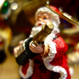 Santa's Champagne by Michael Villecco - Artistic Objects Other Objects ( santa, ornament, christmas, holidays, christmas tree )