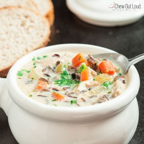Creamy Chicken Wild Rice Soup (GF)