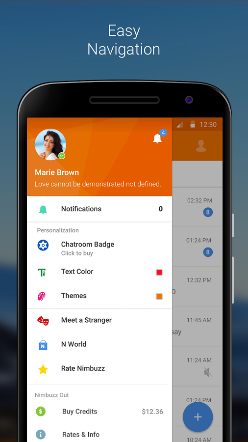 Nimbuzz Messenger / Free Calls Screenshot 4