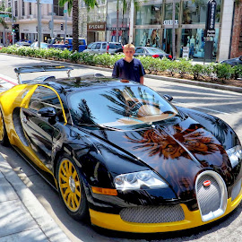 Rodeo Drive Luxury Ride by Tricia Scott - Transportation Automobiles ( california, hollywood, los angeles, bugatti, dream car, transportation, rodeo drive )
