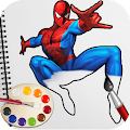 Game Spider Superhero Coloring Book Pages for kids APK for Windows Phone