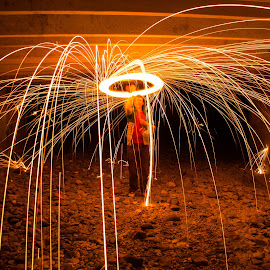 horizontal boom by Andrew Jouffray - Abstract Light Painting