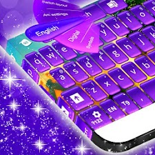 Keyboard Purple Glow