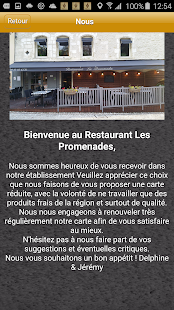 Restaurant Les Promenades - screenshot