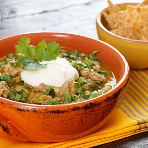 Crock Pot Turkey White Bean Pumpkin Chili