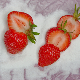 strawberries .... by Joseph Muller - Food & Drink Fruits & Vegetables ( fruit, red, season, summer, tasty ..., fun, strawberry,  )