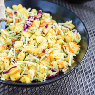 Asian Broccoli Slaw with Pineapple