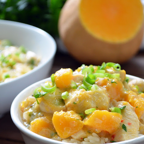 Butternut Squash Quibebe with Chicken and Coconut Milk (Quibebe com Frango e Leite de Coco)