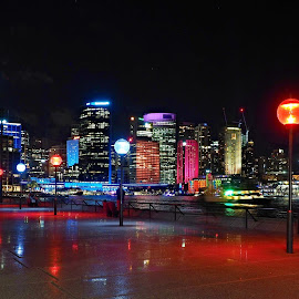 Sydney Lights up by Gary Tew - City,  Street & Park  Skylines ( night scene, digital art, australia, opera house, sydney )