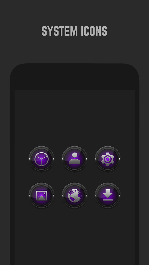 Black and Purple Icon Pack Screenshot 2