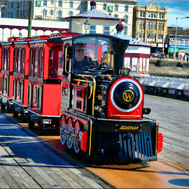 choo choo by Nic Scott - Transportation Trains ( train, north pier, blackpool )