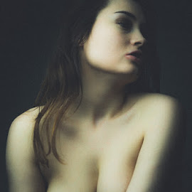 In the light of old masters by 6 x 4 - Nudes & Boudoir Artistic Nude ( painterly, topless, nude, grain )