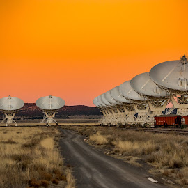 Very Large Array by Ronnie Sue Ambrosino - Artistic Objects Industrial Objects ( satellite, weather, very large array, antenna, new mexico, array )