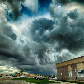 A Storm Is Brewing by Candy Ellison - Landscapes Weather