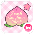 Peach Gingham Check Theme