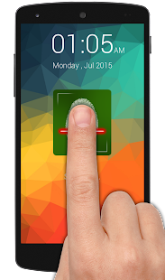 FingerPrint Lock Screen Prank - screenshot