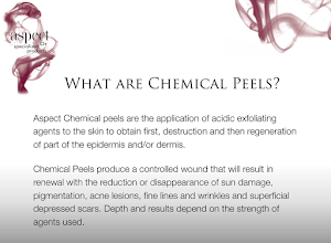 What are chemical peels