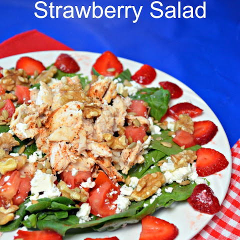 Blackened Chicken Strawberry Spinach Salad