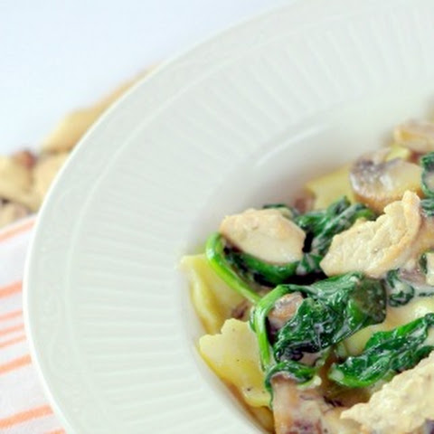 Artichoke Ravioli with Spinach & Mushrooms