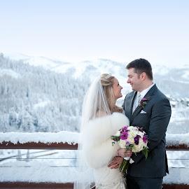 by Melissa Papaj - Wedding Bride & Groom ( stein eriksen, wedding, amber altschul, destination wedding, mountain wedding photographer, park city wedding, mike misiaszek, utah wedding photographer )
