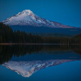 Mt Hood by Richard Duerksen - Landscapes Mountains & Hills ( oregon, reflections, mt hood, trillium, hood,  )