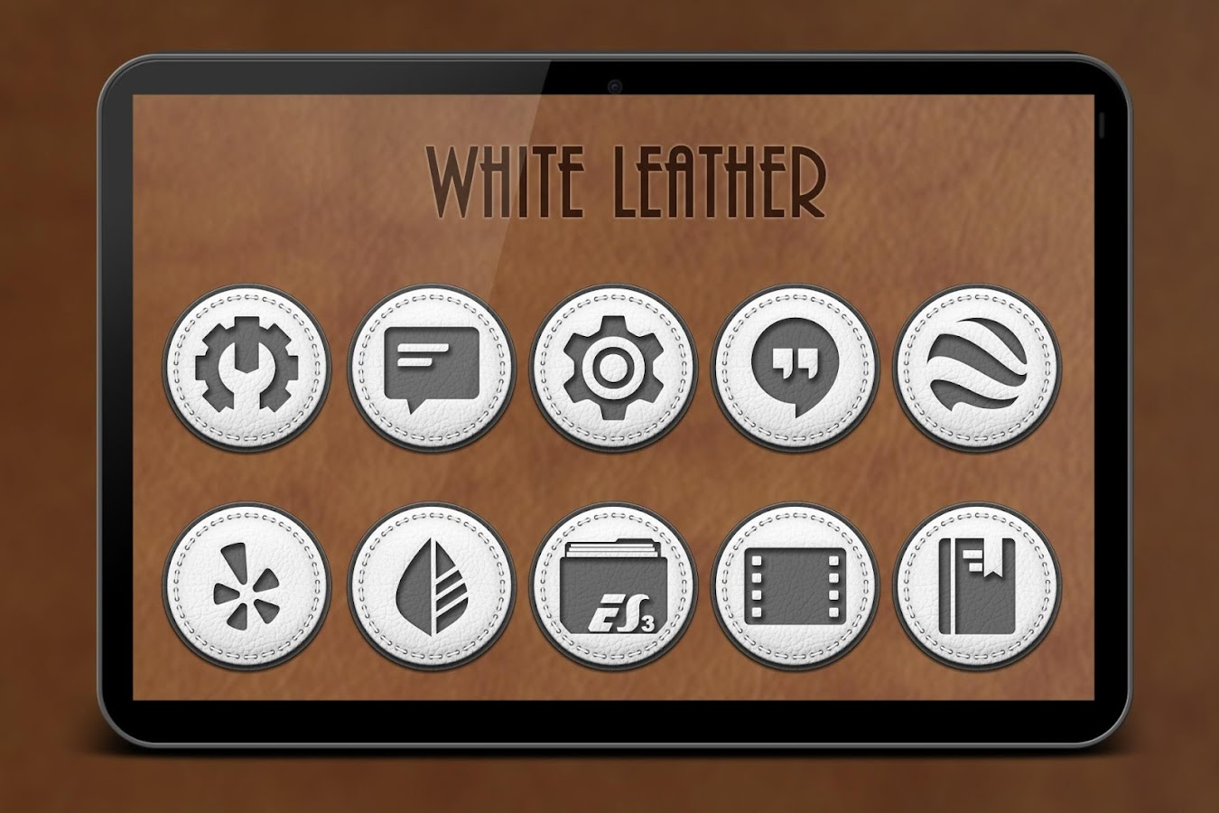 White Leather TSF Shell Theme Screenshot 10
