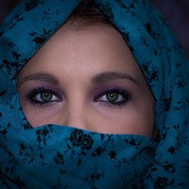 Nicolien 1 by Willem Nel - People Portraits of Women ( woman, green, beautiful, green eyes, eyes,  )