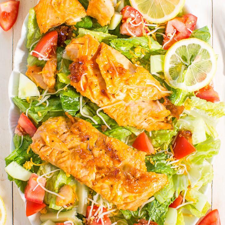 Honey Lemon-Glazed Salmon Salad Recipe | Yummly