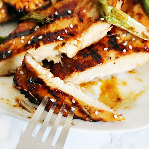 Grilled Asian BBQ Chicken & Green Onions