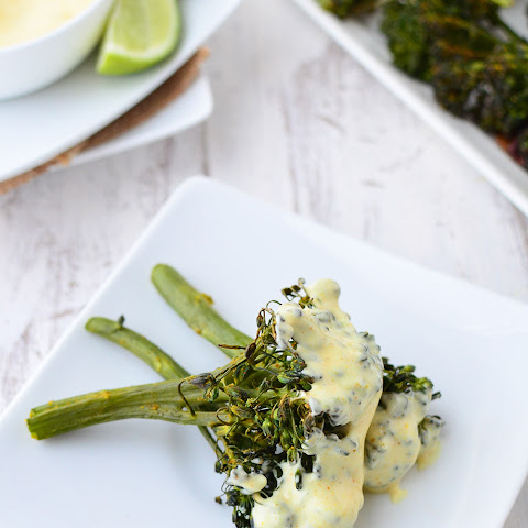 Broccoli Florets with Curry Dipping Sauce