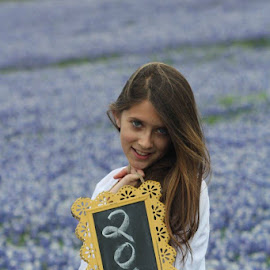 blue bonnets by Stephanie Chevarie - People Family