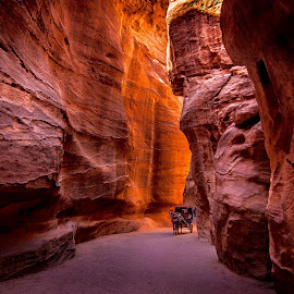 Petra, Amman, Jordan by Jerry ME Tanigue - Landscapes Caves & Formations