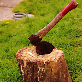 Axe on a break by Suzanna Nagy - Artistic Objects Other Objects
