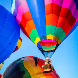Up, Up and Away! by Dave Dabour - Transportation Other ( warren county farmers fair, summer, hot air balloons, balloons, balloon launch )
