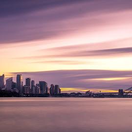 Classic Sydney by Michael Strier - City,  Street & Park  Skylines ( skyline, sunset, australia, long exposure, sydney,  )