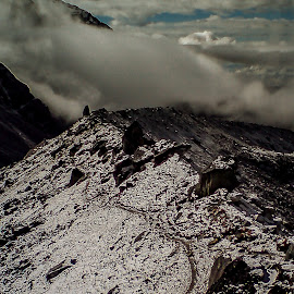 Road to the top by Akashneel Banerjee - Instagram & Mobile Other ( mountain, nature, himalaya, snow, trekking )