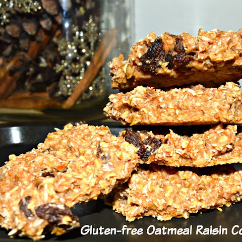Easy Gluten-free Oatmeal Raisin Cookies