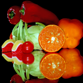 vegetables with fruits by LADOCKi Elvira - Food & Drink Fruits & Vegetables ( vegetables )
