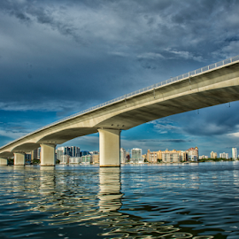 Sarasota Bay by Joe Saladino - Buildings & Architecture Bridges & Suspended Structures ( causeway, sarasota bay, bridge, water, sarasota )