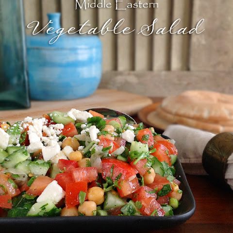 Middle Eastern Vegetable Salad ~ January's #BloggerCLUE Dish