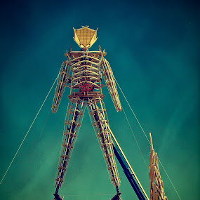 The burning man by Ruben Roman Denver - Artistic Objects Other Objects ( burning man, black rock city, the burn, digital, phtoshop )
