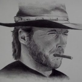 Clint Eastwood by Jan Jury - Drawing All Drawing