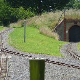 miniature railway line and tunnel by Nick Parker - Transportation Railway Tracks ( miniature, tunnel )