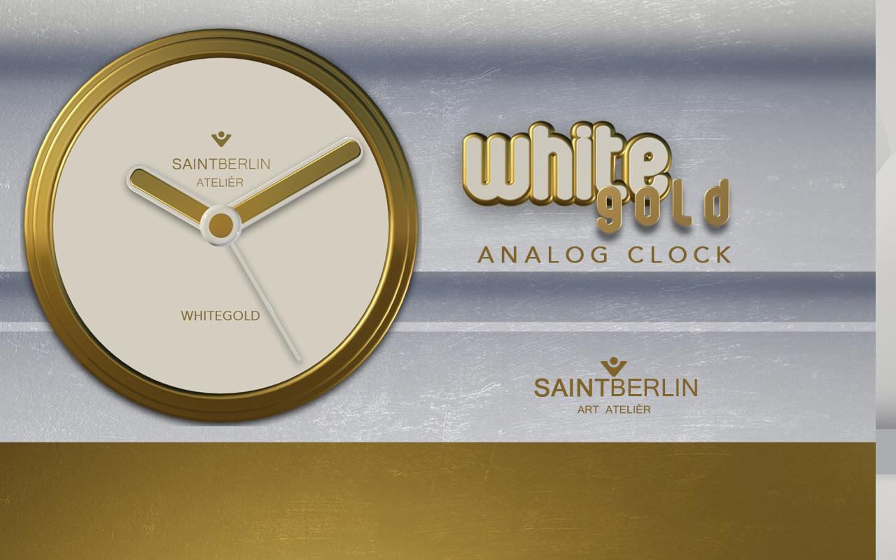 White Gold Clock Widget Screenshot 4