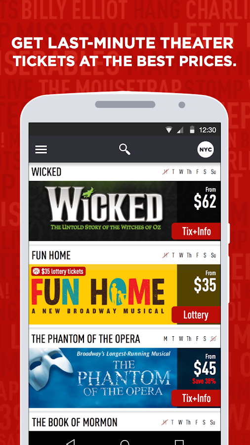 TodayTix – Theater Tickets Screenshot 0