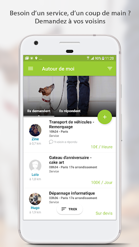 AlloVoisins - location service Android App Screenshot