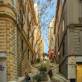 by Veli Toluay - City,  Street & Park  Street Scenes